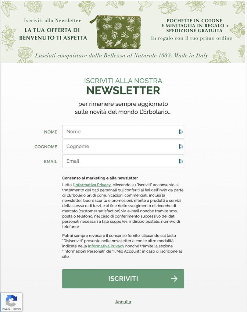 esempio di newsletter